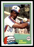 2001 Topps Traded #101 T  -  Tim Raines 81  Front Thumbnail