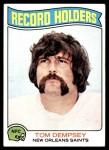 1975 Topps #353   -  Tom Dempsey  Record Breaker Front Thumbnail