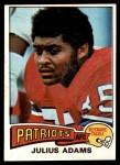 1975 Topps #73  Julius Adams  Front Thumbnail