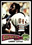 1975 Topps #499  Larry Little  Front Thumbnail