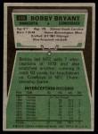 1975 Topps #316  Bobby Bryant  Back Thumbnail