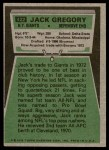 1975 Topps #422  Jack Gregory  Back Thumbnail