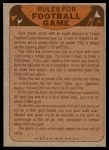 1974 Topps  Checklist   Chargers Back Thumbnail