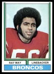 1974 Topps #380  Ray May  Front Thumbnail