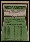 1975 Topps #16  Buck Buchanan  Back Thumbnail
