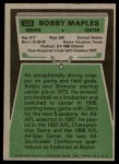 1975 Topps #523  Bobby Maples  Back Thumbnail