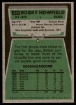 1975 Topps #232  Bobby Howfield  Back Thumbnail