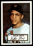 1952 Topps REPRINT #261  Willie Mays  Front Thumbnail