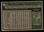 1979 Topps #185  Mike Torrez  Back Thumbnail