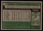 1979 Topps #568  Carlos Lopez  Back Thumbnail