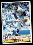 1979 Topps #33  Dave Rozema  Front Thumbnail
