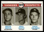 1979 Topps #710   -  Brian Doyle / Mike Heath / Dave Rajsich Yankees Prospects   Front Thumbnail
