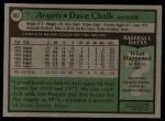 1979 Topps #682  Dave Chalk  Back Thumbnail