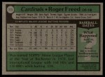 1979 Topps #111  Roger Freed  Back Thumbnail