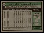 1979 Topps #505  Ed Kranepool  Back Thumbnail