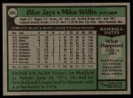1979 Topps #688  Mike Willis  Back Thumbnail