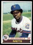 1979 Topps #454  Len Randle  Front Thumbnail