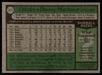 1979 Topps #211  Dennis Martinez  Back Thumbnail