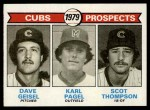 1979 Topps #716   -  Dave Geisel / Karl Pagel / Scott Thompson Cubs Prospects   Front Thumbnail