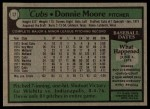 1979 Topps #17  Donnie Moore  Back Thumbnail