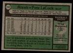 1979 Topps #248  Pete LaCock  Back Thumbnail