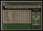 1979 Topps #128  Ted Martinez  Back Thumbnail