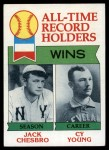 1979 Topps #416   -  Jack Chesbro / Cy Young All-Time Record Holders - Wins Front Thumbnail