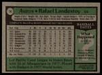 1979 Topps #14  Rafael Landestoy  Back Thumbnail