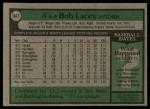 1979 Topps #647  Bob Lacey  Back Thumbnail