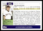 2005 Topps #7   -  Zach Parker First Year Back Thumbnail