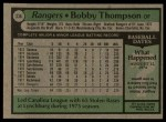 1979 Topps #336  Bobby Thompson  Back Thumbnail