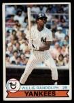 1979 Topps #250  Willie Randolph  Front Thumbnail