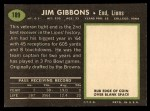 1969 Topps #189  Jim Gibbons  Back Thumbnail