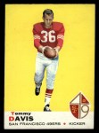 1969 Topps #22  Tommy Davis  Front Thumbnail