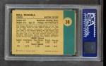1961 Fleer #38  Bill Russell  Back Thumbnail