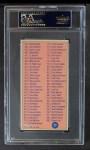 1969 Topps #99   Checklist Back Thumbnail