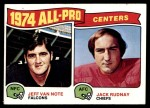 1975 Topps #204   -  Jeff Van Note / Jack Rudnay All-Pro Centers Front Thumbnail