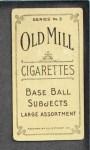 1910 T210-3 Old Mill Texas League  Hicks  Back Thumbnail
