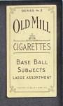 1910 T210-3 Old Mill Texas League  Carlin  Back Thumbnail