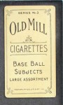 1910 T210-3 Old Mill Texas League  Cowan  Back Thumbnail