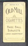 1910 T210-3 Old Mill Texas League  Everett Hornsby  Back Thumbnail