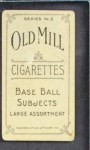 1910 T210-3 Old Mill Texas League OVR Smith  Back Thumbnail