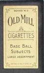 1910 T210-3 Old Mill Texas League  Francis  Back Thumbnail