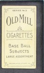 1910 T210-3 Old Mill Texas League  Wetherford  Back Thumbnail