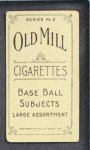 1910 T210-3 Old Mill Texas League  Galloway  Back Thumbnail