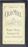 1910 T210-3 Old Mill Texas League  Harbison  Back Thumbnail