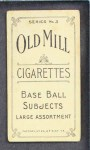 1910 T210-3 Old Mill Texas League  Gardner  Back Thumbnail