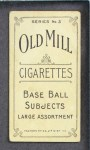 1910 T210-3 Old Mill Texas League  Mullen  Back Thumbnail