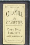 1910 T210-3 Old Mill Texas League  Donnelley  Back Thumbnail