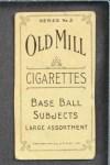 1910 T210-3 Old Mill Texas League  Druke  Back Thumbnail